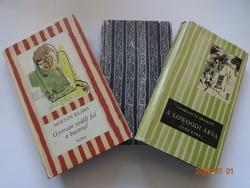 3 db régi csíkos könyv, lányregény - könyvcsomag