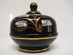 Vintage Kunstglas Bonbonier, ékszertartó, jelzett