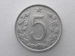 Csehszlovák 5 Heller 1970 érme - Csehszlovákia 5 Hellers (haler) külföldi pénzérme