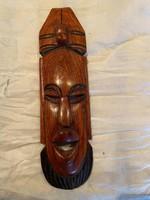 Afrikai kézzel faragott maszk