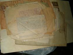 27  darab régi 1920 1944 hivataslo papir lap peres birósági papir kb 1928 tol kb 45 ig