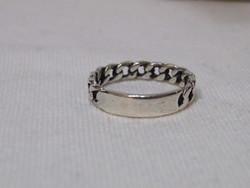 KK891 Érdekes karlánc mintájú ezüst gyűrű 925