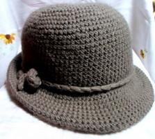 Retro kötött / horgolt női kalap