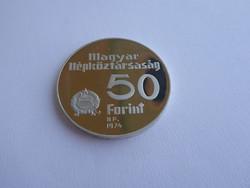1974 Nemzeti Bank, 50 Ft-os ezüst emlékérem, PP