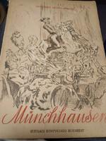 Münchhausen csodálatos utazásai mesekönyv kifogástalan állapotban . 1956
