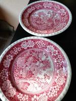 """Villeroy&Boch """"Rusticana"""" reggeliző tányérpár pink jelzés"""