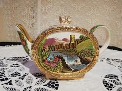 Eladó antik angol Sadler porcelán jelenetes különleges teás kanna!