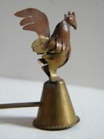 Kakasos réz, bronz gyertyakoppintó