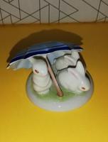 Kőbányai kék esernyős nyuszik