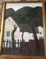 Kováts-Nagy Ira - Fehér Házak című festménye