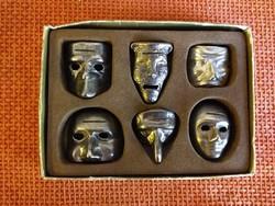 Mardi Gras miniatűr fém maszk kollekció