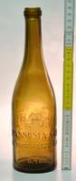 """""""Pannónia Sör Hirschfeld S. Sörgyár Részvénytársaság Pécs 0.48L"""" címeres barna sörösüveg (1547)"""