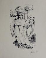 Szalay Lajos : Angyal Szitanyomat