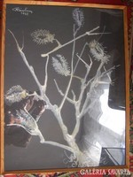 Róna Emy: Kóró (1957)  papír, pasztell, 65 x 46 cm jelezve balra fent: Róna Emy 1957