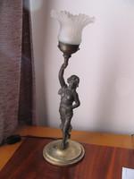 Antik, szecessziós asztali lámpa (50 cm)