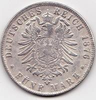 Német államok / Poroszország /,forgalmi érme, 5 márka 1914