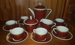 Hollóházi (1949-1970) között készült 6 személyes mokkás/ kávés készlet