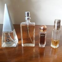 Különféle francia kölnik, parfűmök