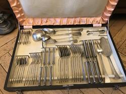 Ezüst 6 személyes angol fazonú evőeszköz készlet