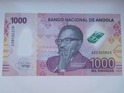 Angola 1000 kwanza 2020 UNC Polmer A 2 legnagyobb címlet!