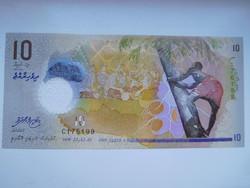 Maldív szigetek 10 rufiyaa 2015 UNC  Polymer