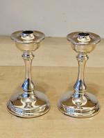 Ezüst gyertyatartó pár Angol Sterling ezüst 925 ös finomság