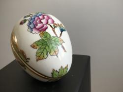 Húsvétra! VBO Viktória / Victoria  mintás Herendi tojás bonbonier