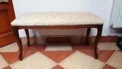 Barokk kárpitos pad szófa kanapé ülőke ágyvég, vagy cipőhúzó
