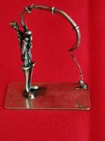 Horgász a pácban!!!! 925 Sterling ezüst szobrocska!