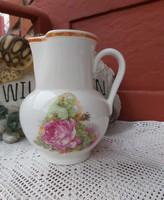 Gyűjtői Ritka formájú Ditmark Keramik Germany rózsás kancsó  nosztalgia darab paraszti dekoráció