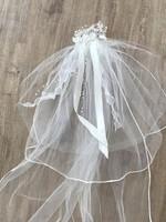 Csodás hosszú menyasszonyi fátyol esküvőre