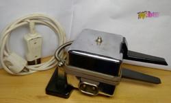 Vintage nikkelezett gofrisütő Schulte, Német 1960-as évek, hiánytalan működőképes állapotban.