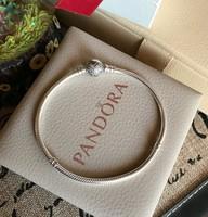 Pandora, Pavé szívzáras ezüst karkötő