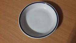 Zsolnay porcelán menzás kék csíkos tányér