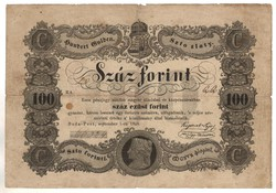 100 Száz forint 1848 Kossuth bankó 4. Eredeti tartás