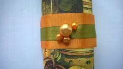 Gyöngyös narancs szalvétagyűrű