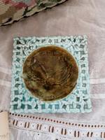 Schütz Cilli majolika különleges  négyszögletes kistányér