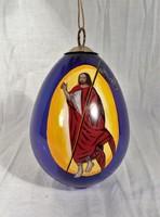 Ritka, kézzel festet üveg húsvéti tojás. Gyűjtőknek is ajánlom.