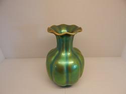 Zsolnay eozin gerezdes váza.