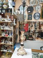 Régi osztrák majolika asztali lámpa
