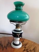 Wallendorf Echt cobalt petróleumlámpa (porcelán, üveg, réz) nagyon szép állapotban! 43 cm magas