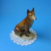 Zsolnay porcelán német juhász kutya