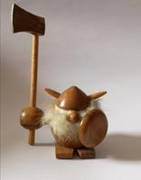 1950 Mid Century Dán teak fa viking figura Jacob Jensen