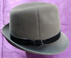 Retro női kalap - Tonak - Made in Czechoslovakia - szürke
