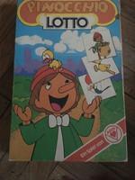 Pinocchio Lotto 1970-es évekbeli német társasjáték