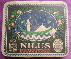 Retro Nílus egyiptomi szivarka fémdoboz - Magyar Fémlemez Ipar RT. - 18x90x105 mm.