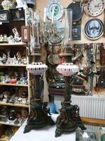 2db régi asztali petróleum lámpa