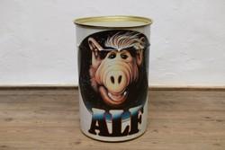 Retró Alf Szennyestartó / Fém Puff / Régi Tároló / 1988 -as