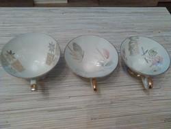 Régi Német Bavaria porcelán kávés csészék.