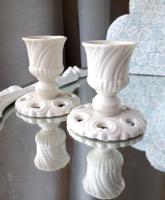 Antik Nymphenburg porcelán kis gyertyatartók párban
